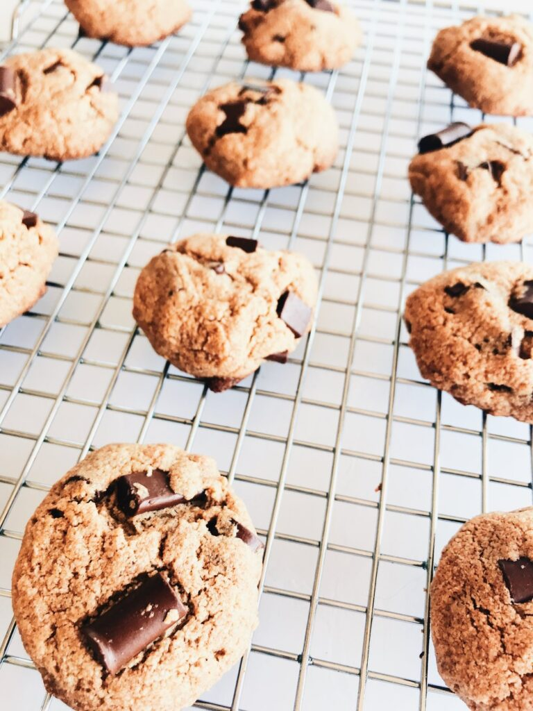 Best Ever Gluten Free Chocolate Chunk Cookies! Click for the recipe!