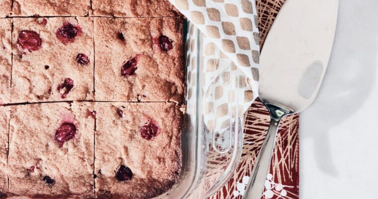 Cozy Almond Flour Blondies With Cranberry + Orange