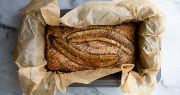 Healthy Banana Bread With Nutmeg And Cardamom