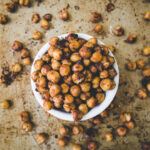 Crispy roasted chickpeas in a bowl